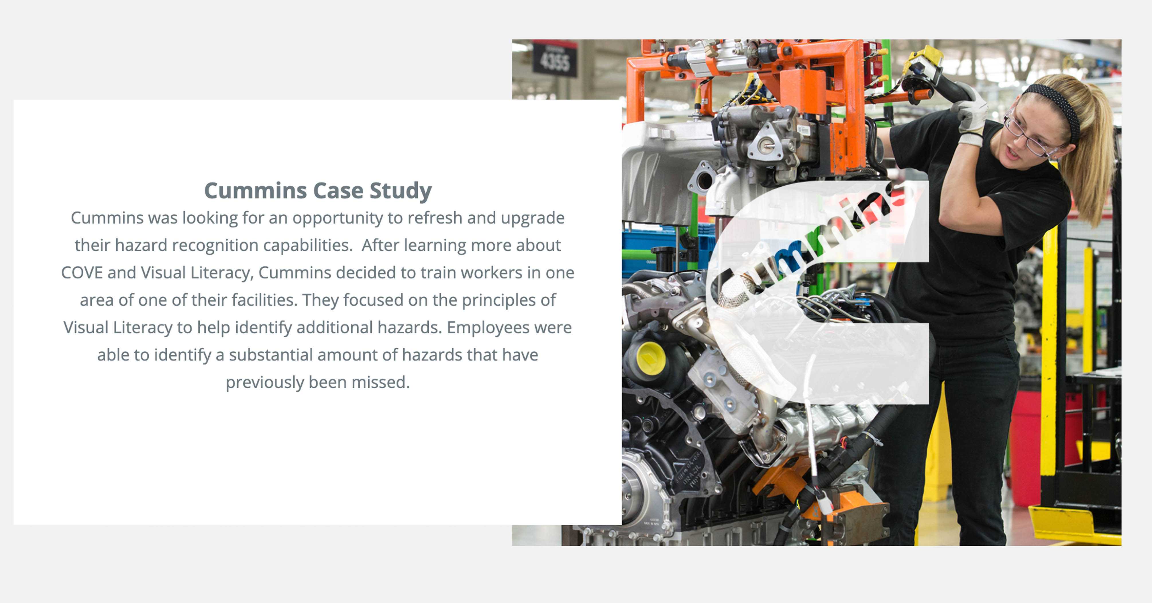 Cummins homepage case study